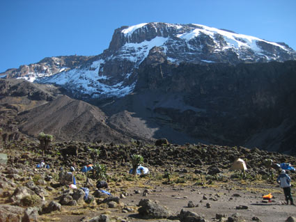 Barranco Camp in the morning.