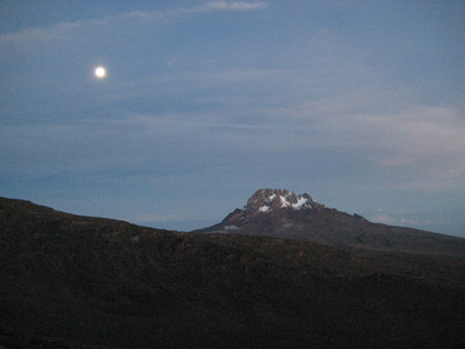 Mt. Mawenzie, as seen just above Barafu Camp.