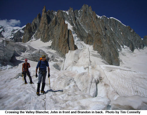 crossing vallee blanche