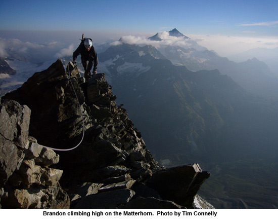 high on the hornli ridge of the matterhorn