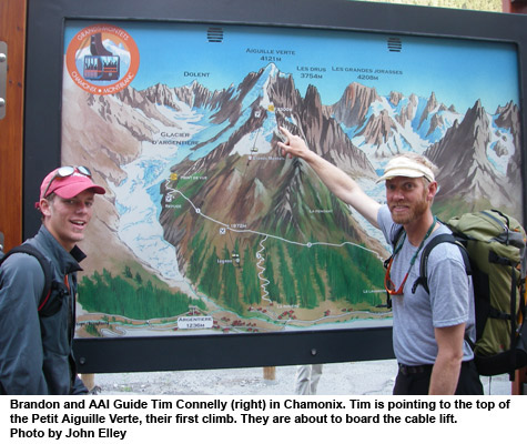 viewing map of chamonix