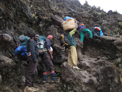 Porters on the Barranco Wall.